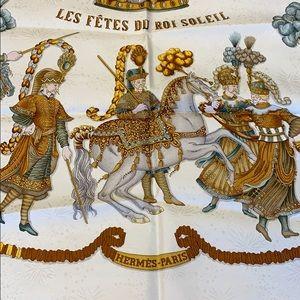Vintage Hermes Scarf 1994 Les Fetes du Roi Soleil